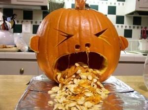 barfing pumpkin