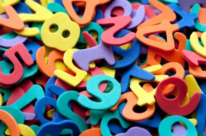 Colourful preschool numbers