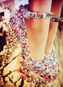 luxe diamond high heels-f03508