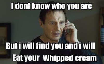whipped cream IAN