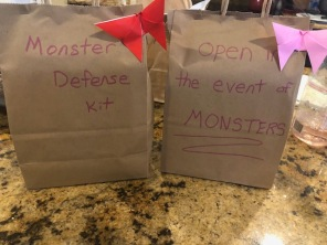 Random packages appeared on the porch...kids were convinced monster left them.