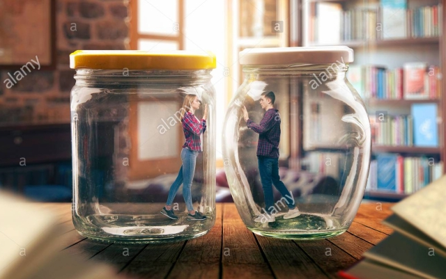 people in jars